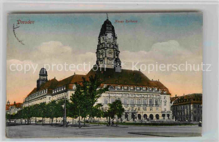 Dresden Neues Rathaus Kat. Dresden Elbe