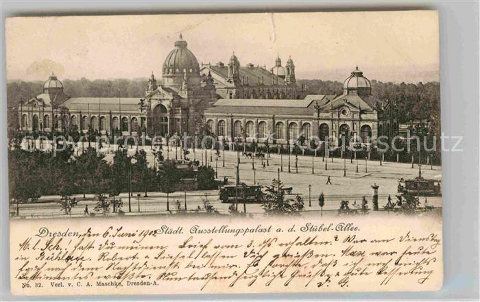 Dresden Staedt Ausstellungspalast Stuebel Allee Kat. Dresden Elbe