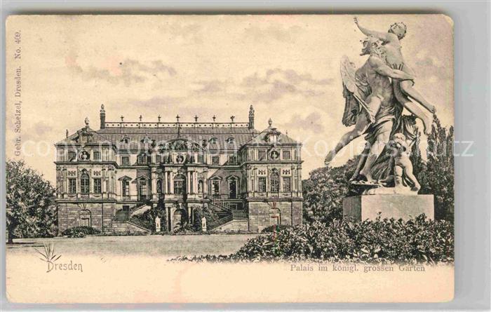 Dresden Palais im kgl grossen Garten Statue Kat. Dresden Elbe