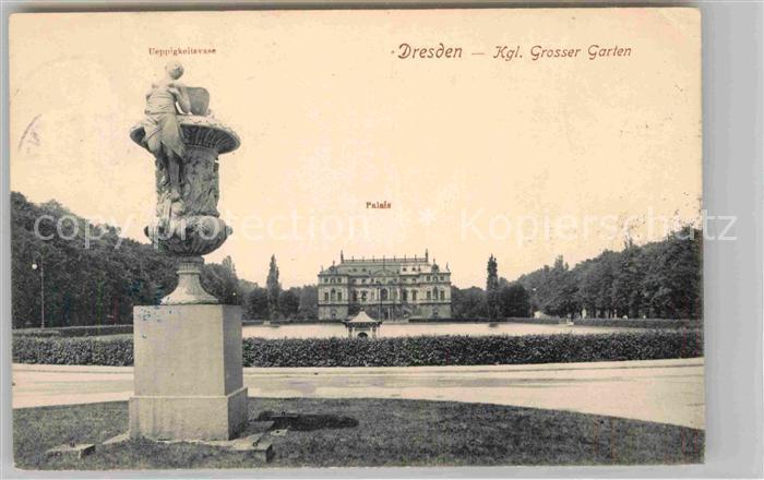 Dresden Kgl Grosser Garten Palais ueppigkeitsvase Kat. Dresden Elbe