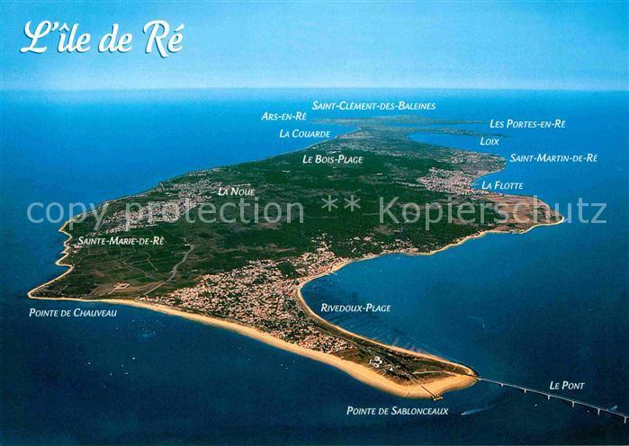AK / Ansichtskarte Ile de Re Vue aerienne Kat. Saint Martin de Re