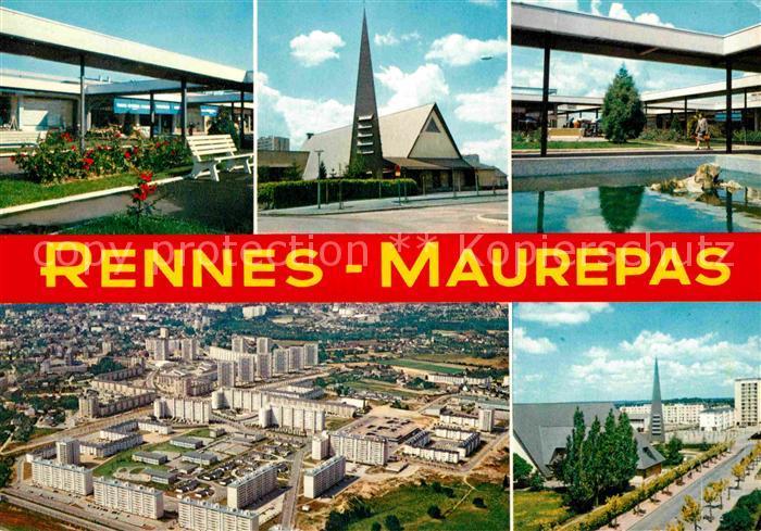 Rennes Cite de Maurepas Eglise vue aerienne Kat. Rennes