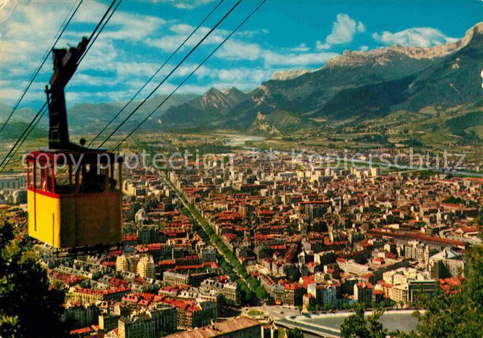 AK / Ansichtskarte Grenoble Vue generale prise de la station superieure du Teleferique Kat. Grenoble