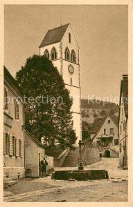Britzingen Brunnen Kirche Kat. Muellheim