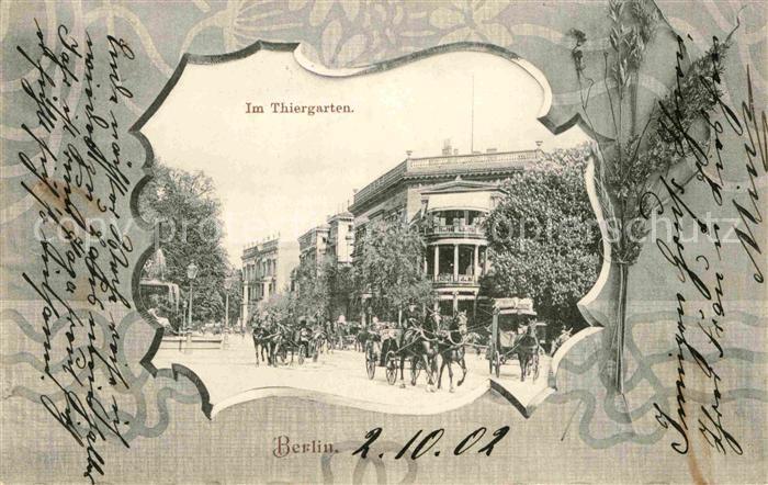 Berlin Im Thiergarten Kat. Berlin