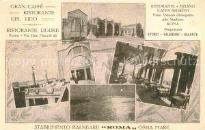 Roma Rom Caffe Restaurante del Lido Ristorante Ligure Ristorante Tiziano Kat.