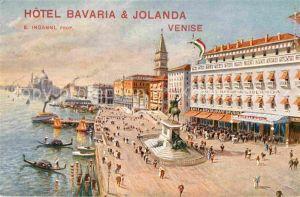 AK / Ansichtskarte Venise Venezia Hotel Bavaria et Jolanda Kat. Venezia Venedig