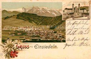 AK / Ansichtskarte Einsiedeln SZ Panorama Kloster Einsiedeln Kat. Einsiedeln