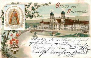 AK / Ansichtskarte Einsiedeln SZ Kloster und Kirche Gnadenbild Kat. Einsiedeln
