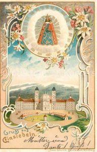 AK / Ansichtskarte Einsiedeln SZ Gnadenbild Kloster und Kirche Kat. Einsiedeln