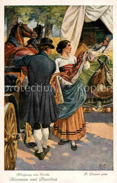 AK / Ansichtskarte Goethe Johann Wolfgang von Hermann und Dorothea Kuenstlerkarte F. Elssner  Kat. Dichter