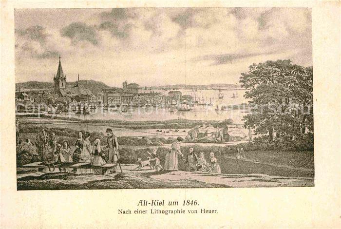 AK / Ansichtskarte Kiel Alt Kiel um 1846 Lithographie Kat. Kiel
