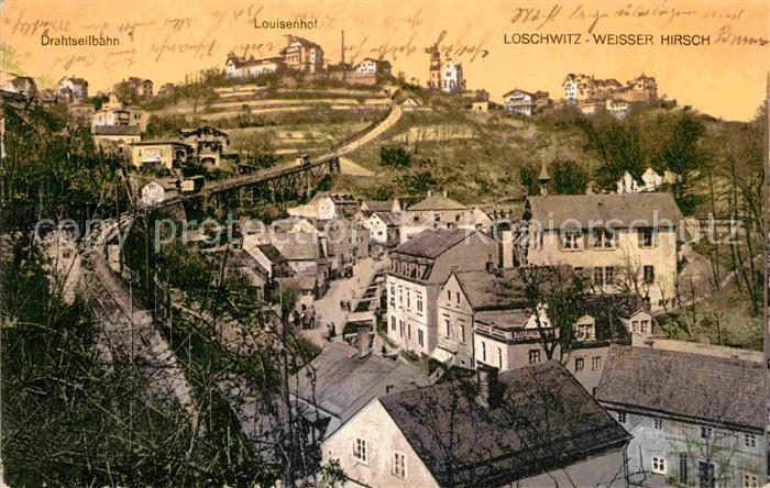 AK / Ansichtskarte Loschwitz Drahtseilbahn Louisenhof Weisser Hirsch Kat. Dresden
