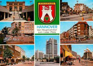 AK / Ansichtskarte Hannover Vom Hauptbahnhof zum Lister Platz Wedekindstrasse  Kat. Hannover