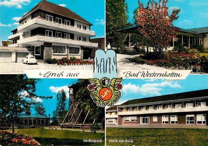 AK / Ansichtskarte Bad Westernkotten Kurpark Haus am Park Haus Margareta Kat. Erwitte