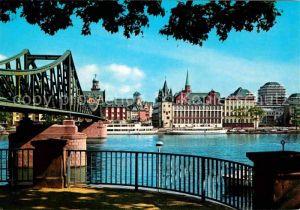 AK / Ansichtskarte Frankfurt Main Am Eisernen Steg Kat. Frankfurt am Main