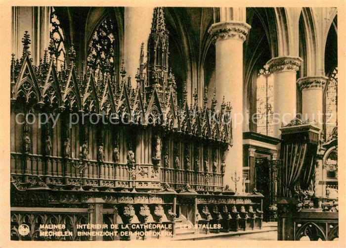 Ak malines mechelen de kathedraal la cath drale nr for Interieur mechelen