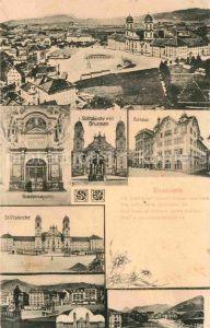AK / Ansichtskarte Einsiedeln SZ Kloster Gnadenkapelle Stiftskirche Rathaus Brunnen Kat. Einsiedeln