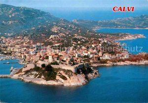 AK / Ansichtskarte Calvi Port Citadelle et les Golfes vue aerienne Kat. Calvi