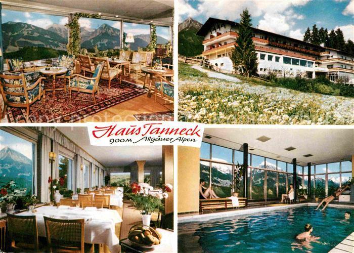 AK / Ansichtskarte Fischen Allgaeu Hotel Haus Tanneck Kat. Fischen i.Allgaeu