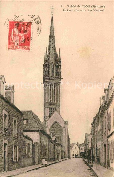 AK / Ansichtskarte Saint Pol de Leon Creis Ker et la Rue Verderel  Kat. Saint Pol de Leon