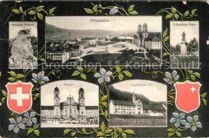 AK / Ansichtskarte Einsiedeln SZ Kloster Sankt Benedictus Statue Frauenkloster Au Kat. Einsiedeln