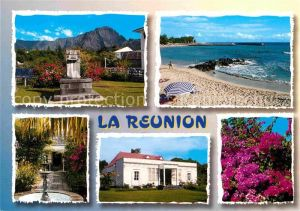 AK / Ansichtskarte Reunion La Strand Springbrunnen Denkmal  Kat. La Reunion
