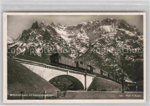 AK / Ansichtskarte Eisenbahn Mittenwaldbahn Karwendelgebirge Foto H. Huber Nr. 187  Kat. Eisenbahn