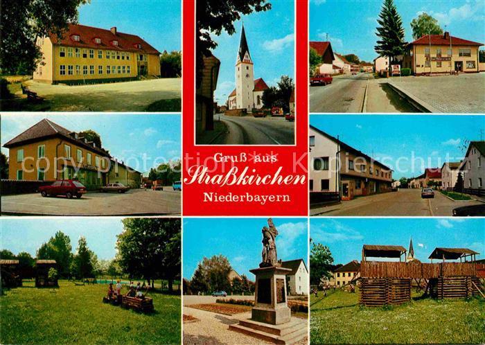 AK / Ansichtskarte Strasskirchen Donau Ortspartien Denkmal Kirche Kat. Strasskirchen