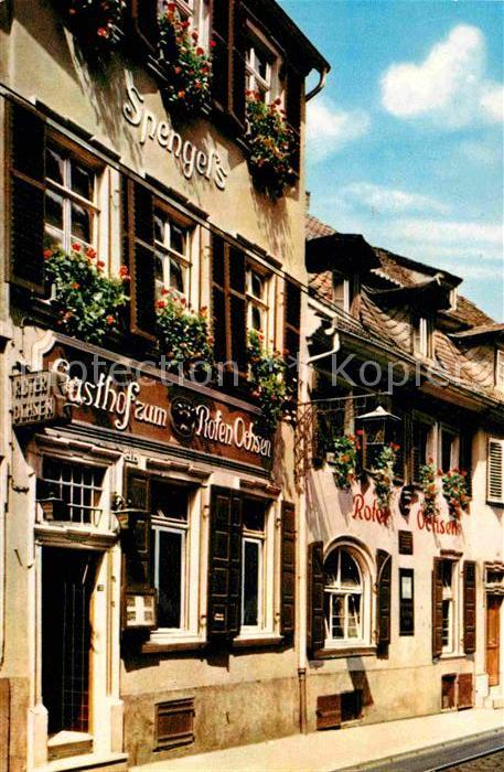 AK / Ansichtskarte Heidelberg Neckar Zum Roten Ochsen Kat. Heidelberg