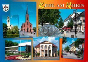 AK / Ansichtskarte Kehl Rhein Rathaus Brunnen Stadthalle Anker  Kat. Kehl