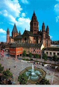 AK / Ansichtskarte Mainz Rhein Dom Domplatz