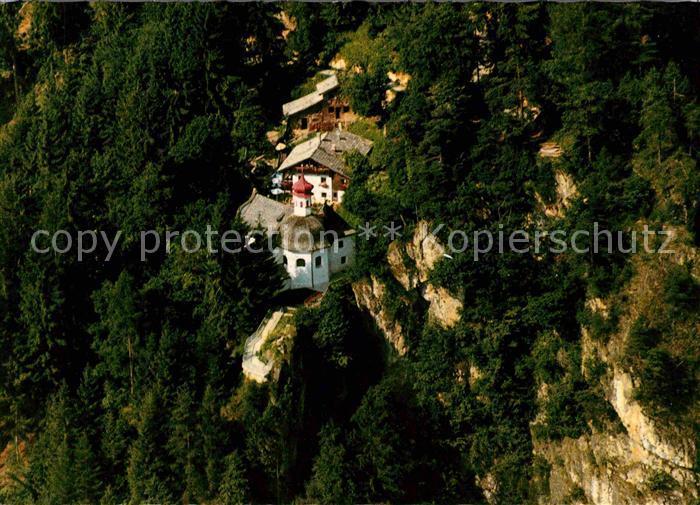 AK / Ansichtskarte Strass Zillertal Fliegeraufnahme Wallfahrtsort Maria Brettfall Kat. Strass im Zillertal