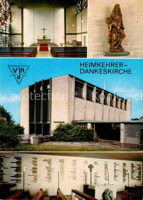 AK / Ansichtskarte Weitmar Heimkehrer Dankeskirche Pfarrkirche Heilige Familie Kat. Bochum