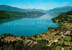 AK / Ansichtskarte Doebriach Millstaettersee Alpenpanorama Fliegeraufnahme