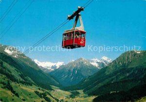 AK / Ansichtskarte Seilbahn Klosters Gotschnagrat Silvrettagletscher  Kat. Bahnen