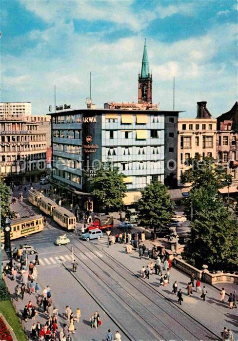 AK / Ansichtskarte Strassenbahn Duesseldorf Corneliusplatz Koenigsallee  Kat. Strassenbahn