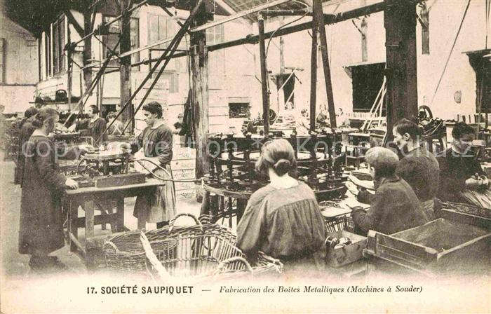 AK / Ansichtskarte Nantes Loire Atlantique Fabrication des Boites Metalliques  Kat. Nantes