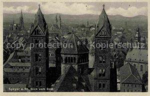 AK / Ansichtskarte Speyer Rhein Blick vom Dom Kat. Speyer