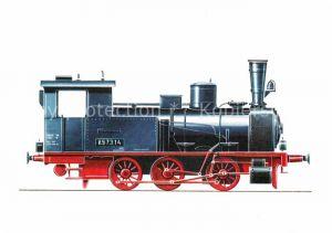 AK / Ansichtskarte Lokomotive Gueterzug Tenderlokomotive 897314 Zeichnung Swoboda  Kat. Eisenbahn