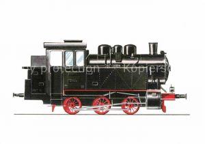 AK / Ansichtskarte Lokomotive Gueterzug Tenderlokomotive 80031 Zeichnung Swoboda  Kat. Eisenbahn