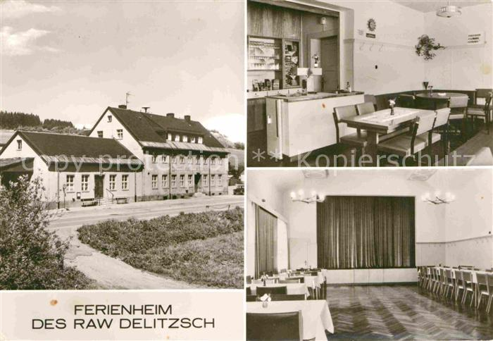 AK / Ansichtskarte Hammerunterwiesenthal Ferienheim des Raw Delitzsch Kat. Oberwiesenthal
