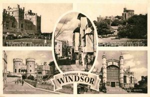 AK / Ansichtskarte Windsor Berkshire East Terrace River Thames and Castle Norman Tower St Georges Chapel Nell Gwynns House Kat. Windsor and Maidenhead
