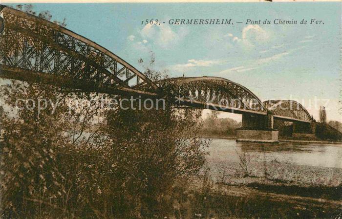 AK / Ansichtskarte Germersheim Pont du Chemin de Fer Kat. Germersheim