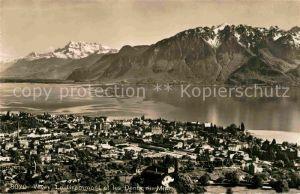 AK / Ansichtskarte Vevey VD Le Grammont et les Dents du Midi Lac Leman Genfersee Alpen Kat. Vevey