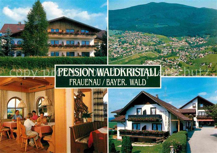 AK / Ansichtskarte Frauenau Pension Waldkristall Bayerischer Wald Fliegeraufnahme Kat. Frauenau