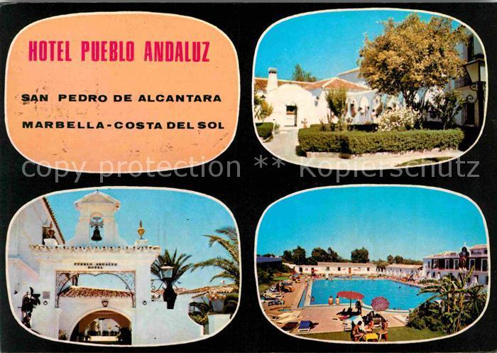 AK / Ansichtskarte San Pedro de Alcantara Hotel Pueblo Andaluz piscina