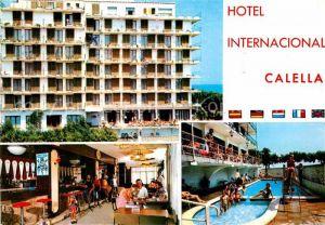 AK / Ansichtskarte Calella Hotel Internacional Restaurant Swimming Pool Kat. Barcelona