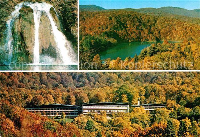 AK / Ansichtskarte Jezera Kroatien Nationalpark Plitvicka Jezera Hotel Wasserfall Herbststimmung Kat. Kroatien