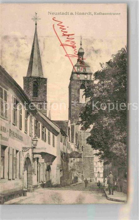 AK / Ansichtskarte Neustadt Haardt Rathausstrasse Kat. Neustadt an der Weinstr.